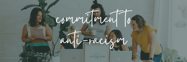 anti-racism commitment banner